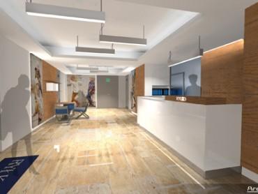 biuro recepcja wnętrza